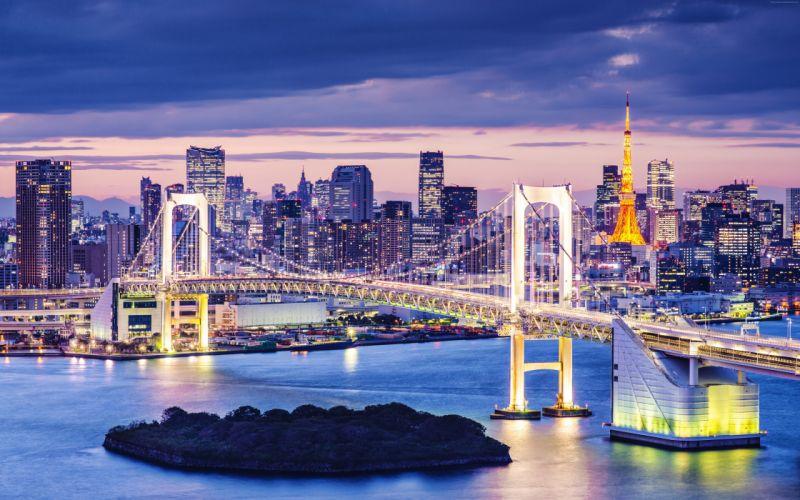tokyo japan bay bridge wallpaper