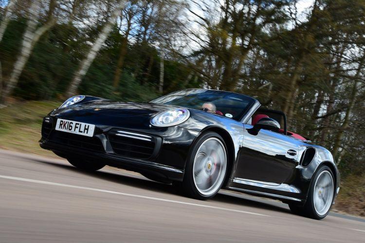 Porsche 911 Turbo Cabriolet UK-spec Coupe (991) cars 2016 wallpaper