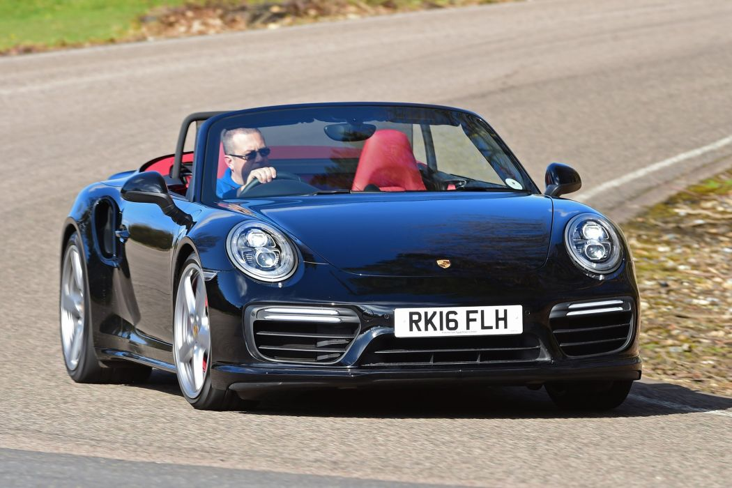 Porsche 911 Turbo Cabriolet UK-spec Coupe (991) cars 2016 wallpaper