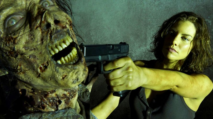 WALKING DEAD horror series dark zombie evil wallpaper