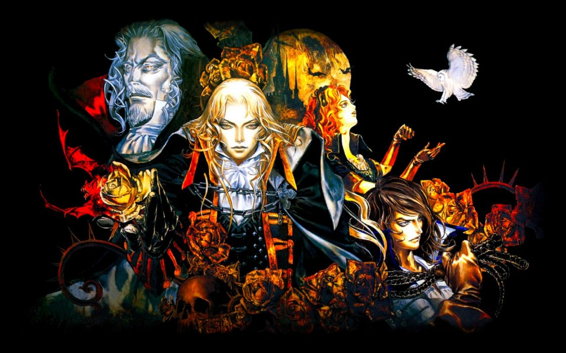 CASTLEVANIA fantasy dark vampire horror evil warrior gothic wallpaper