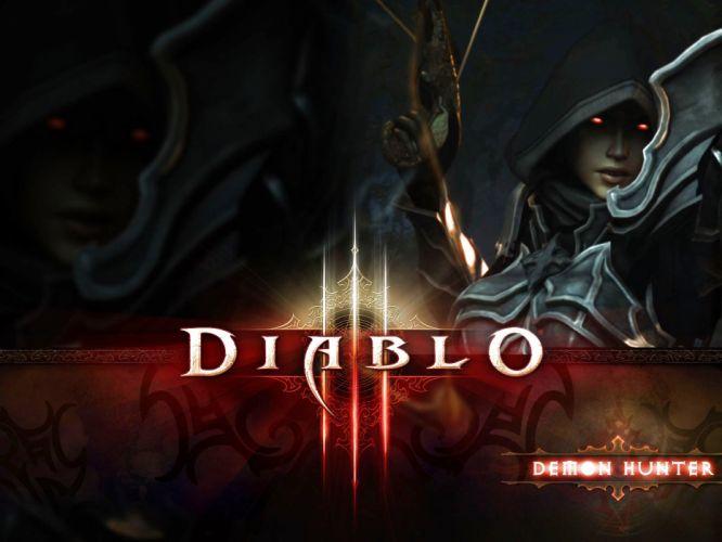DIABLO dark fantasy warrior rpg action fighting dungeon poster wallpaper