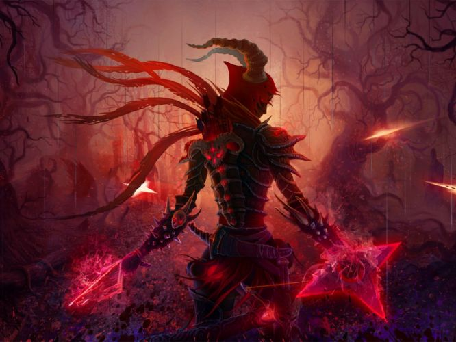 DIABLO dark fantasy warrior rpg action fighting dungeon wallpaper