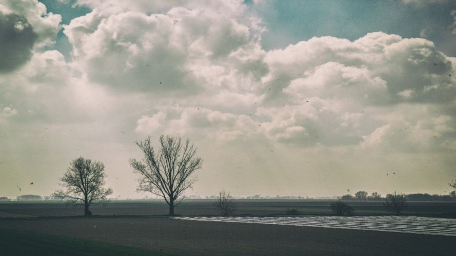 cielo nubes naturaleza arboles wallpaper