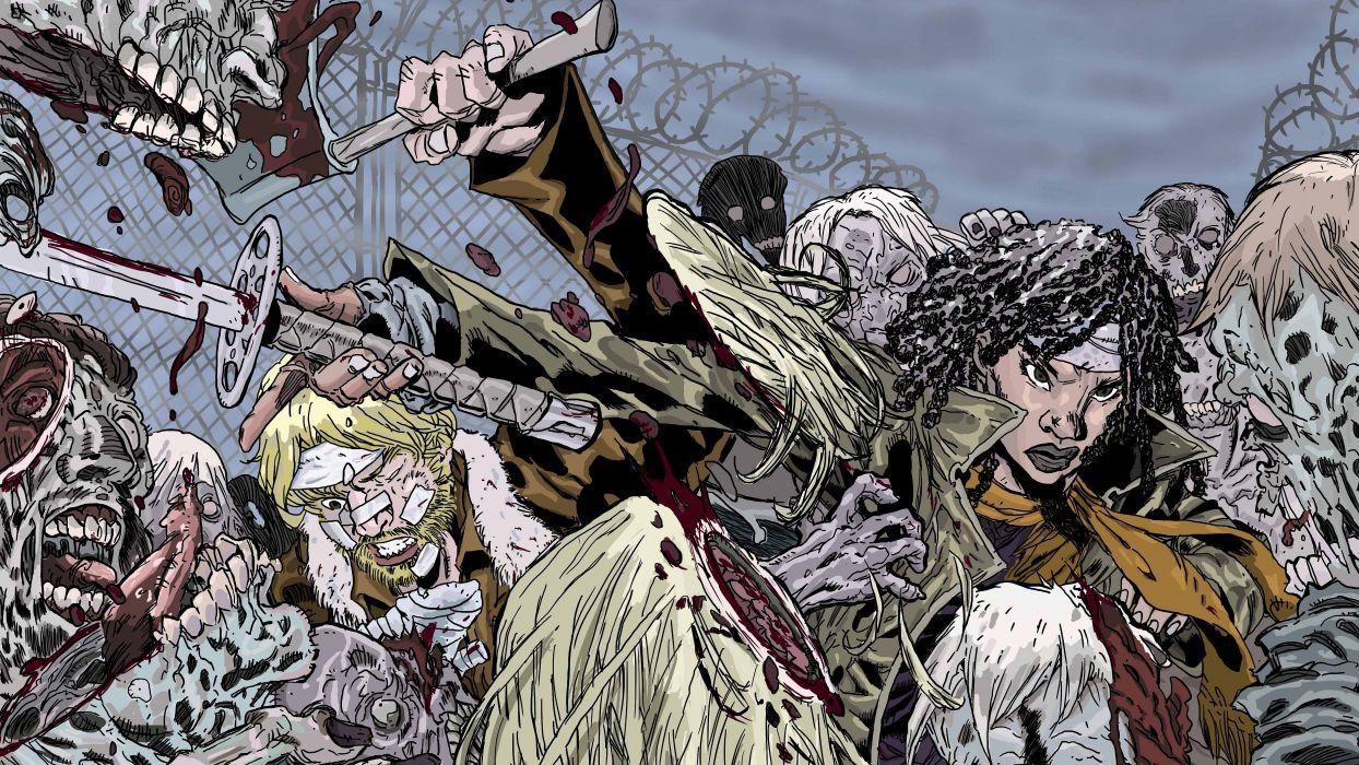 Walking Dead Horror Series Dark Zombie Evil Wallpaper 5000x2813