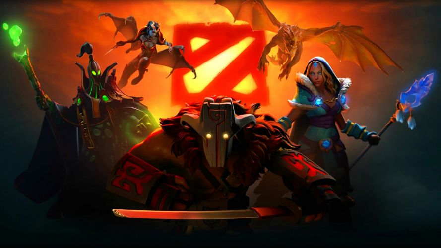 DOTA fantasy mmo online battle arena action fighting warrior poster wallpaper