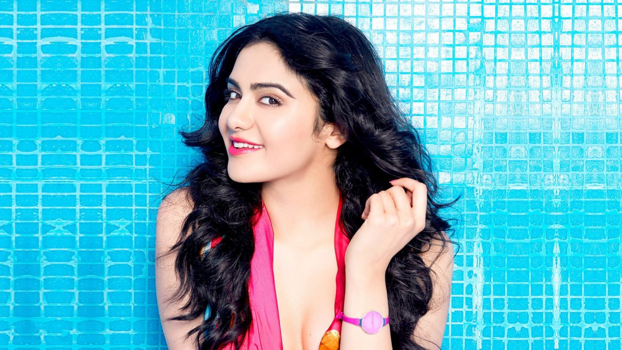 adah sharma bollywood actress model girl beautiful brunette pretty cute beauty sexy hot pose face eyes hair lips smile figure indian  wallpaper