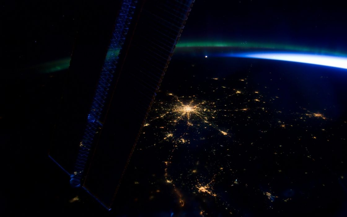 view the city lights from space beauty wallpaper