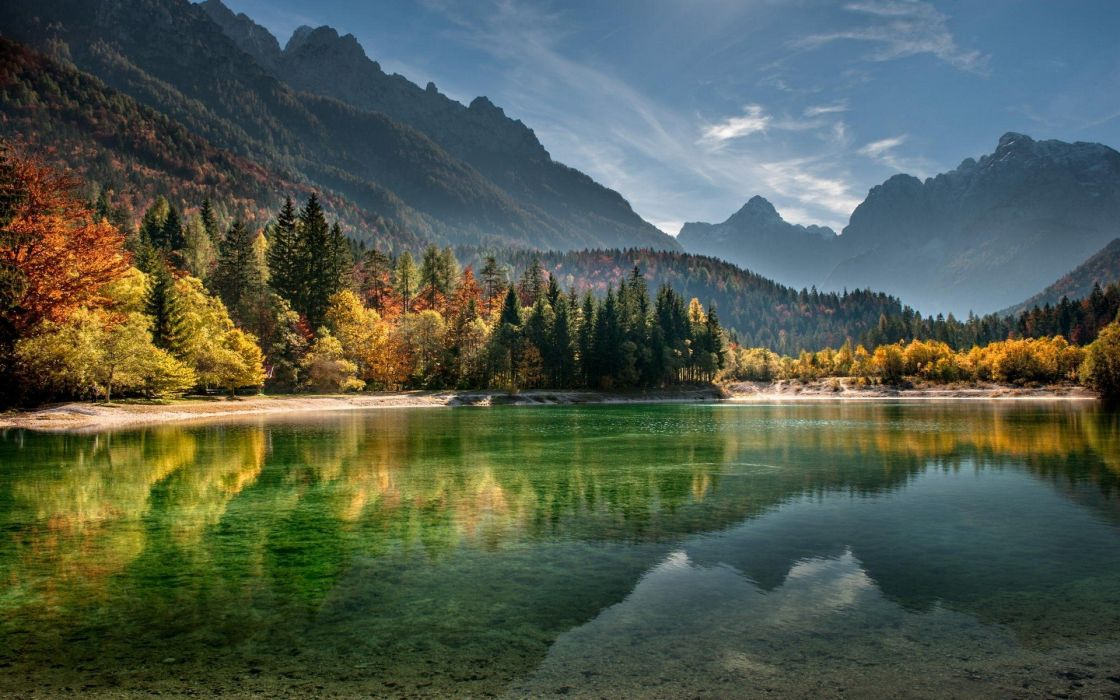 fog lake forest autumn nature beauty mist landscape wallpaper