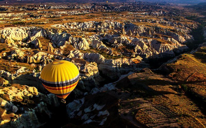 balloon amazing beauty landscape wallpaper