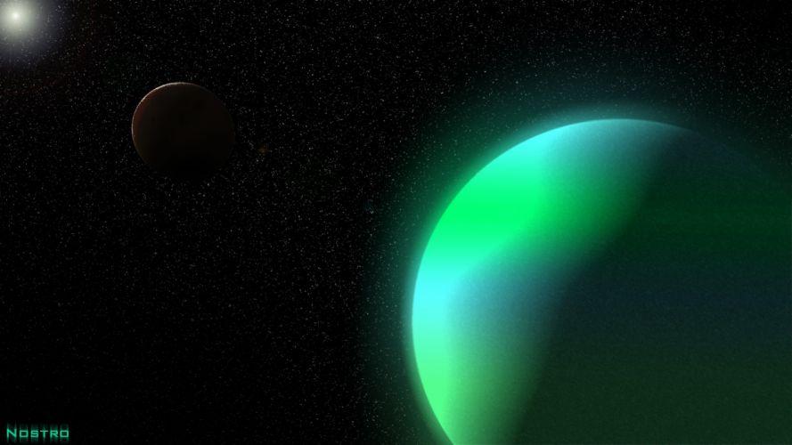 planetas gaseosos espacio galaxia naturaleza wallpaper