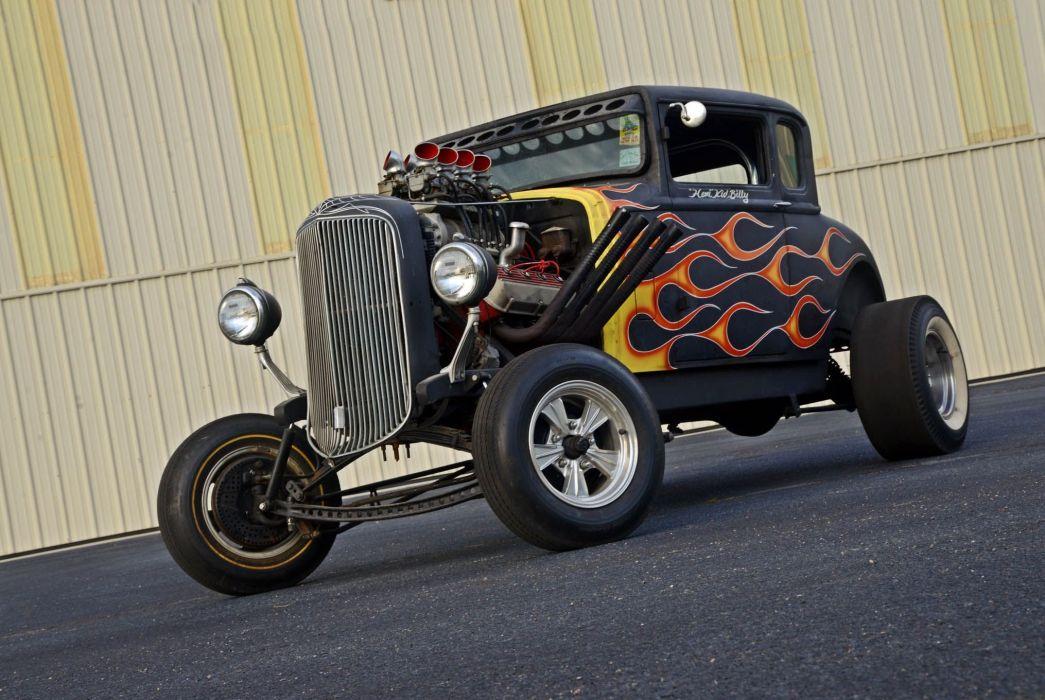 1929 Dodge Coupe Hotrod Hot Rod Rat Ratrod Drag USA -06 wallpaper