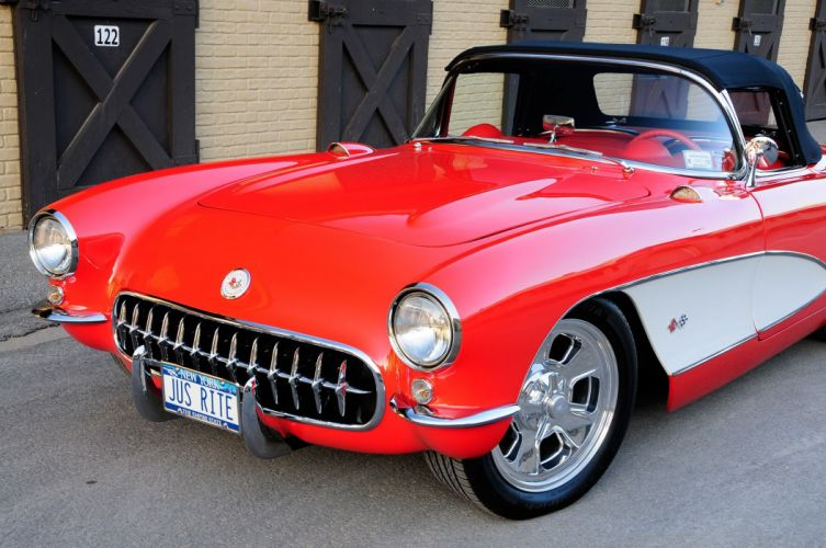 1957 Chevrolet Chevy Corvette Hot Rod Streetrod Street Rod USA -06 wallpaper