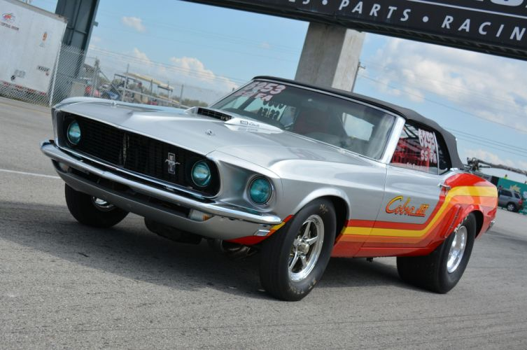 1969 Ford Mustang Convertible Cobra-Jet Drag Super Stock USA -05 wallpaper