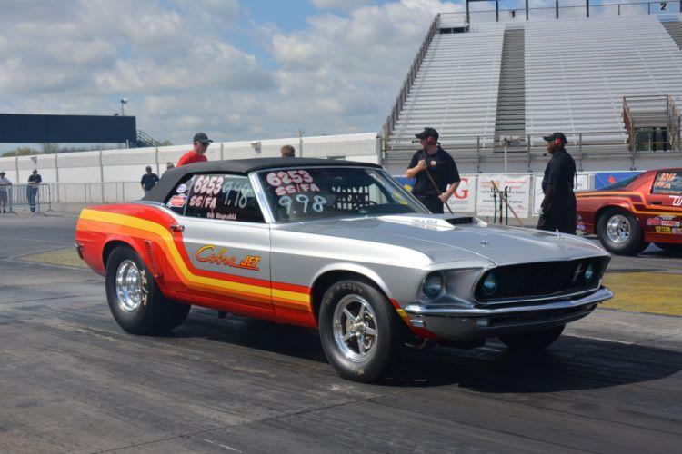 1969 Ford Mustang Convertible Cobra-Jet Drag Super Stock USA -01 wallpaper