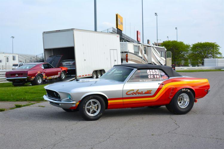 1969 Ford Mustang Convertible Cobra-Jet Drag Super Stock USA -09 wallpaper