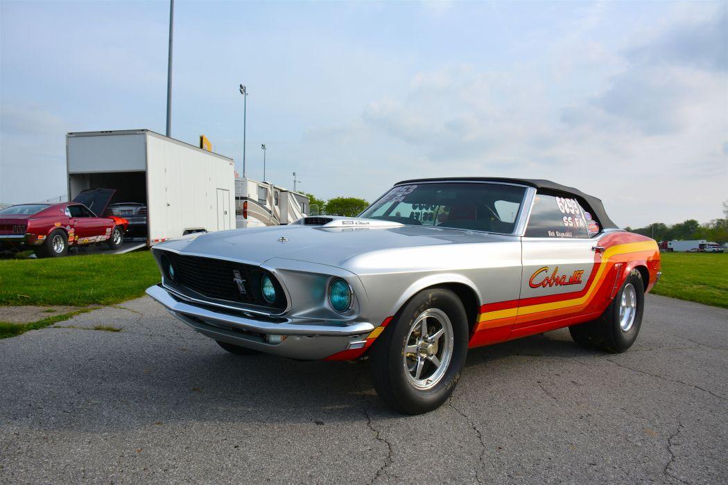 1969 Ford Mustang Convertible Cobra-Jet Drag Super Stock USA -10 wallpaper