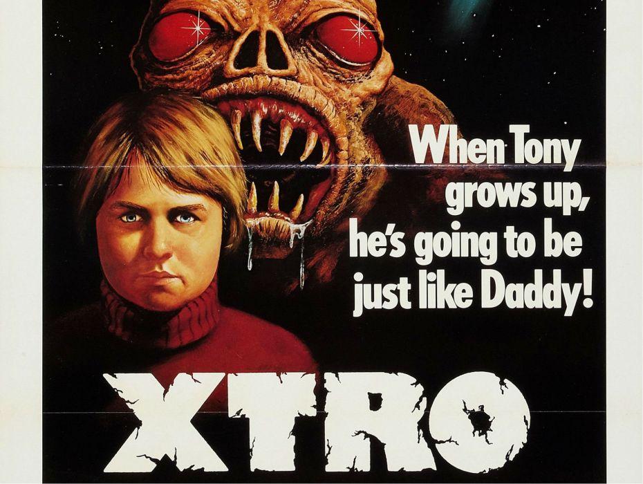 XTRO sci-fi horror dark alien aliens monster 1xtro evil poster wallpaper