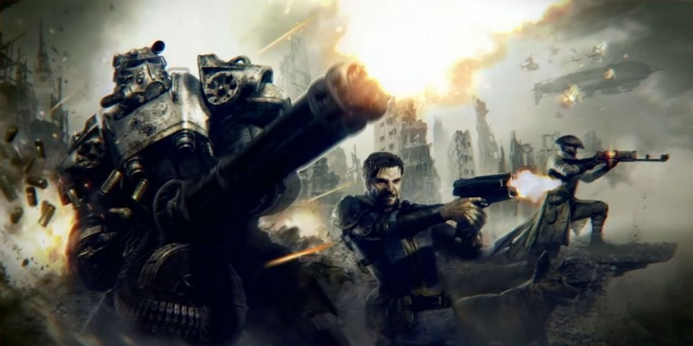FALLOUT sci-fi warrior action fighting shooter sci-fi futuristic wallpaper