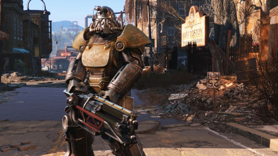 FALLOUT sci-fi warrior action fighting shooter sci-fi futuristic wallpaper
