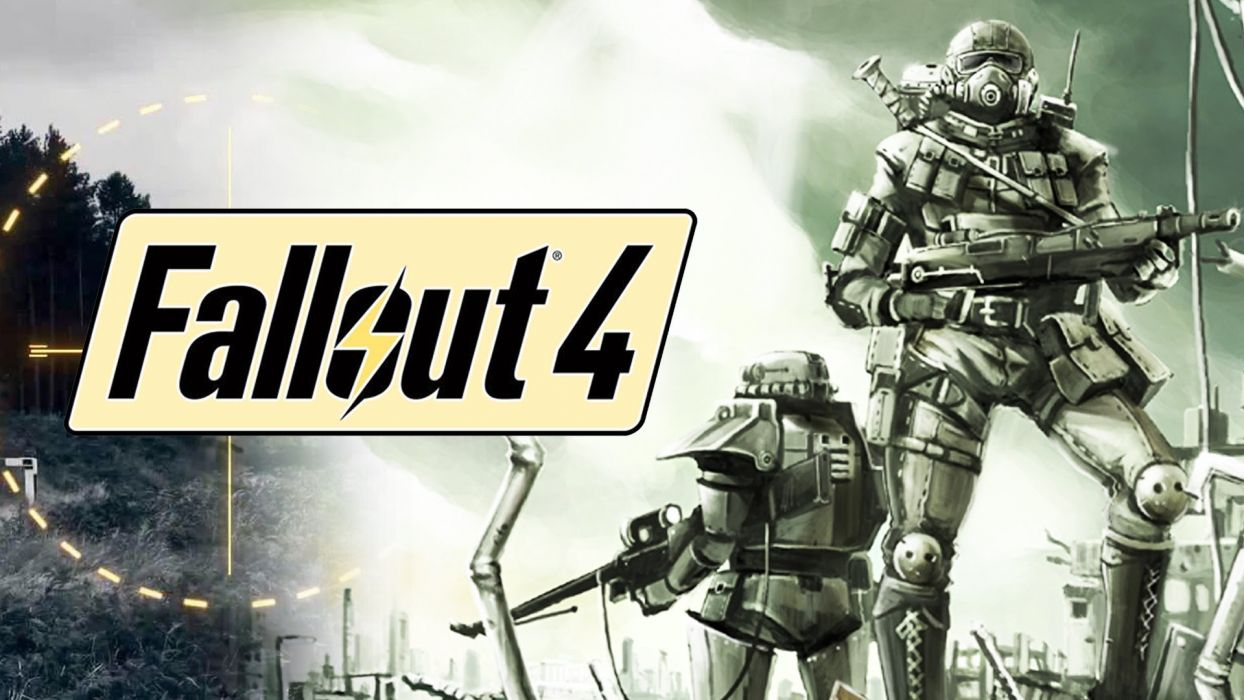 FALLOUT sci-fi warrior action fighting shooter sci-fi futuristic apocalyptic poster wallpaper