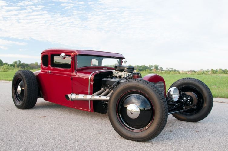 1931 Ford Model-A Coupe Five Window Hotrod Hotrod Custom Kustom USA -04 wallpaper