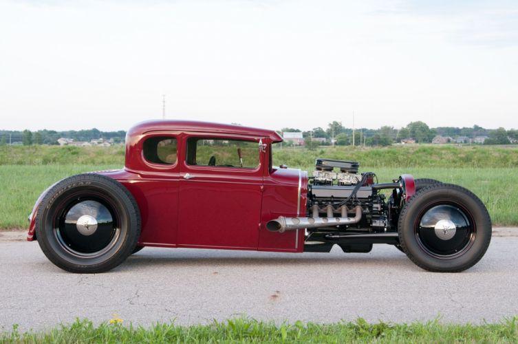 1931 Ford Model-A Coupe Five Window Hotrod Hotrod Custom Kustom USA -02 wallpaper