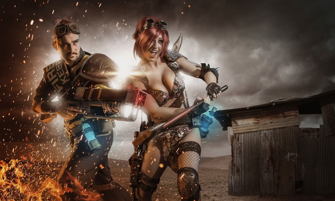 FALLOUT sci-fi warrior action fighting shooter sci-fi futuristic apocalyptic cosplay wallpaper