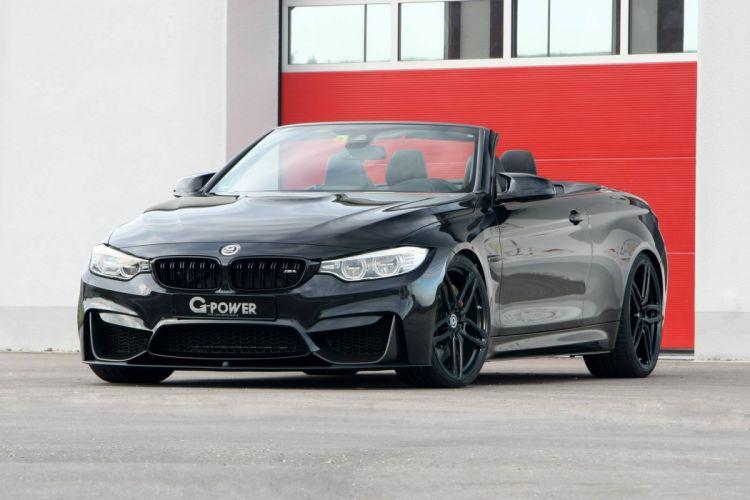 BMW M4 Cabrio G-Power cars black modified wallpaper