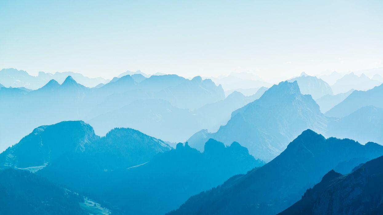 beauty mountains mist nature landscape wallpaper