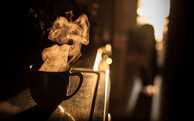 steam urban bokeh mug sunlight monochrome depth of field wallpaper
