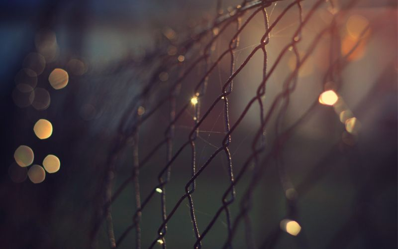 close-up fences bokeh macro depth of field chain link fence wallpaper