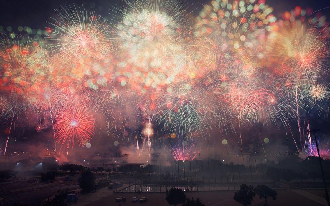 explosions fireworks bokeh new year Flickr wallpaper