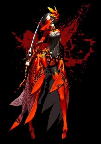 boots video games dress blade armor earrings Hyung-tae Kim jewelry Blade and Soul simple background anime girls black background black hair wallpaper