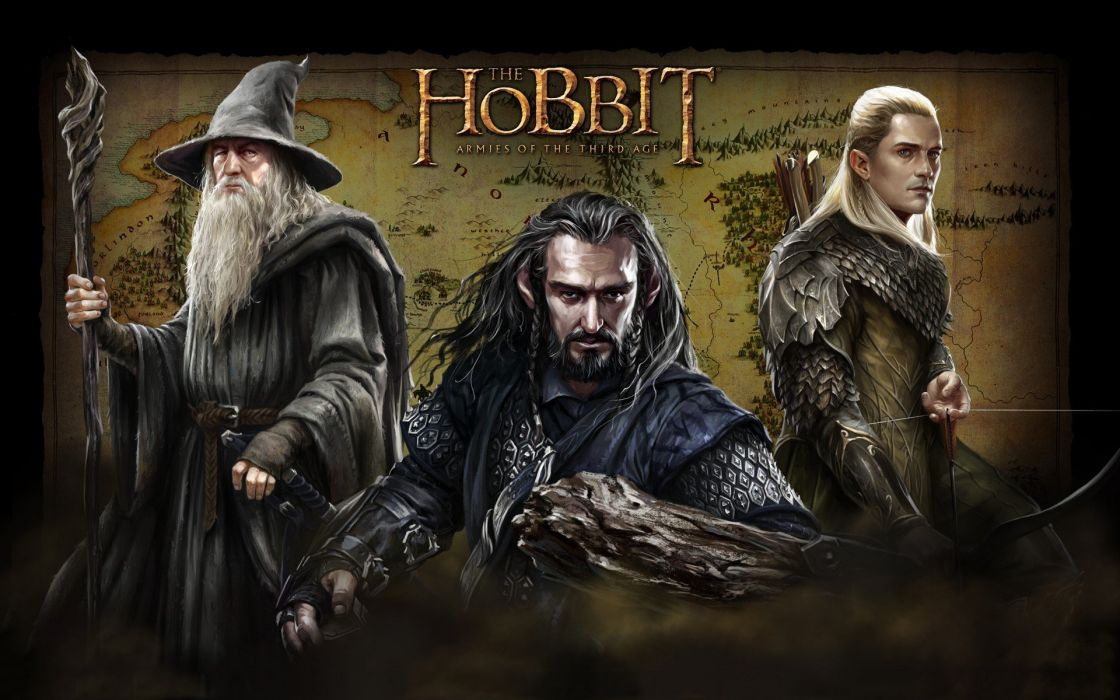 video games Gandalf The Lord of the Rings fantasy art elves maps wizards The Hobbit Middle-earth Legolas Thorin Oakenshield wallpaper