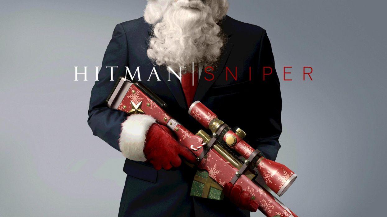 HITMAN assassin sniper warrior sci-fi action fighting stealth assassins spy poster christmas wallpaper
