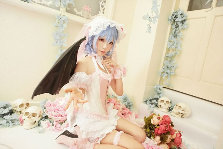 COSPLAY fetish girl girls female women woman costume sexy babe fantasy touhou asian oriental wallpaper
