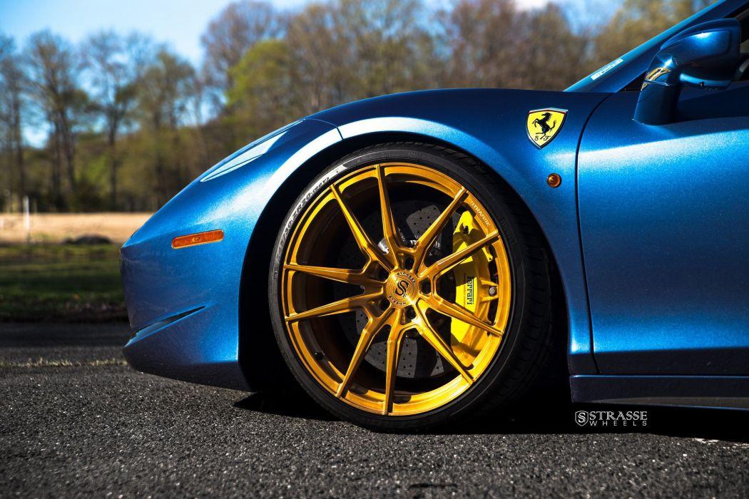 Strasse Wheels Ferrari 458 Spider Cars wallpaper