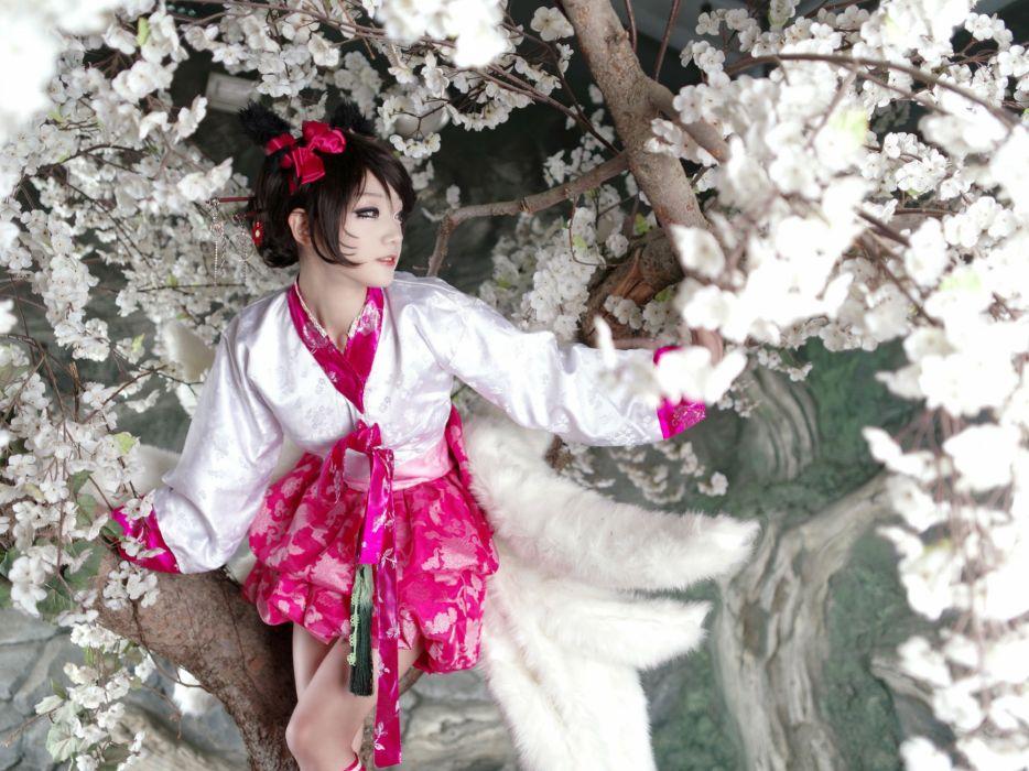 COSPLAY fetish girl girls female women woman costume sexy babe fantasy asian oriental wallpaper