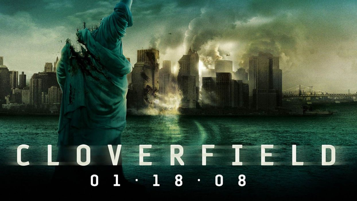 CLOVERFIELD drama horror mystery apocalyptic sci-fi fantasy 10lane alien aliens dark poster wallpaper