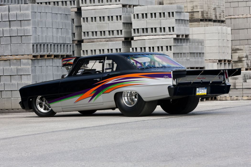 1966 Chevrolet Chevy Nova SS Super Street Drag Outlaw USA -07 wallpaper