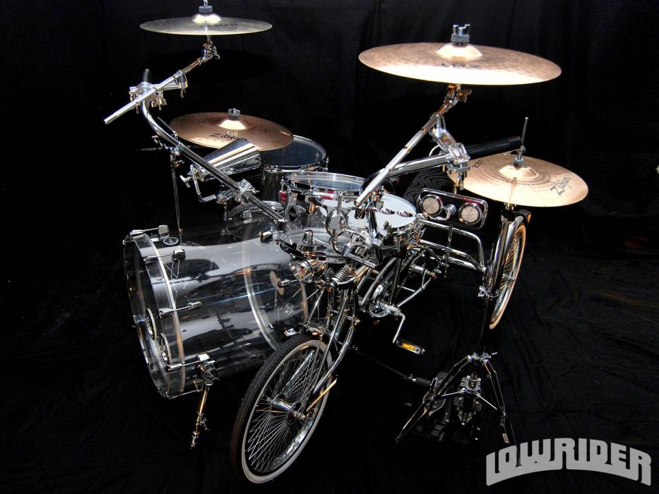 LOWRIDER motorbike tuning custom bike motorcycle hot rod rods chopper bicycle drums music wallpaper