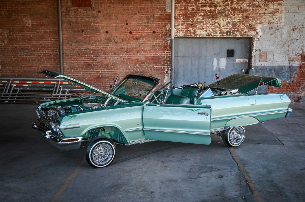 1963 chevrolet impala custom tuning hot rods rod gangsta lowrider wallpaper