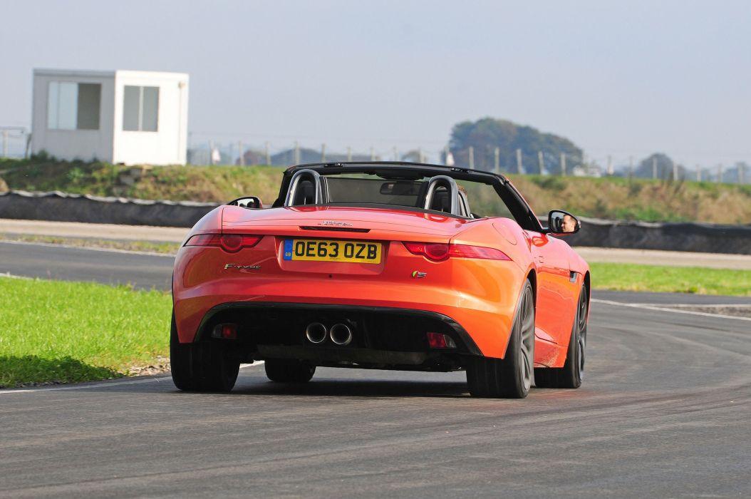 Jaguar F-Type S Convertible UK-spec cars 2013 wallpaper