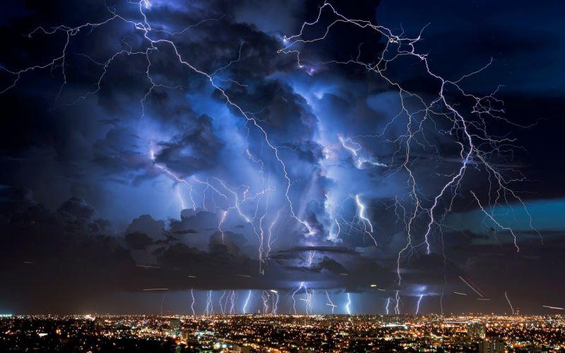 lightning nature electricity clouds city photography cityscape night sky lights storm wallpaper