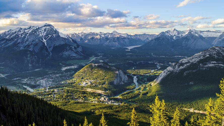 Banff nature landscape mountain Banff National Park Canada wallpaper