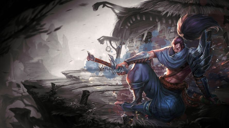 Yasuo fantasy character male League of Legends wallpaper