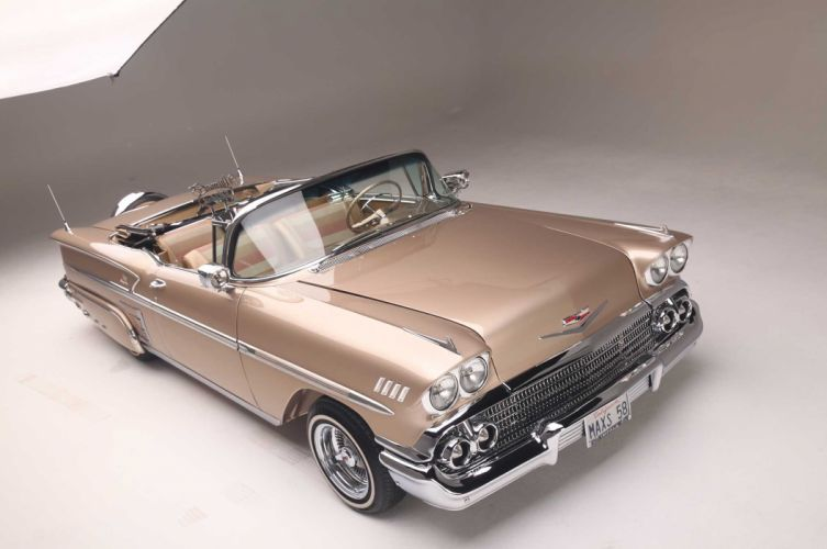 1958 chevrolet impala convertible custom tuning hot rods rod gangsta lowrider wallpaper