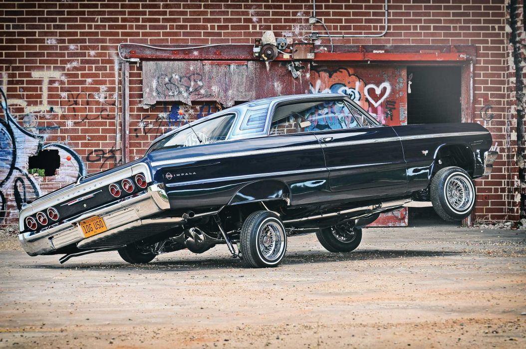 1964 chevrolet impala super sport custom tuning hot rods rod gangsta lowrider wallpaper