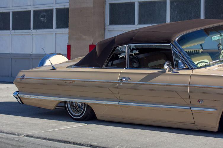 1963 chevrolet impala convertible custom tuning hot rods rod gangsta lowrider wallpaper